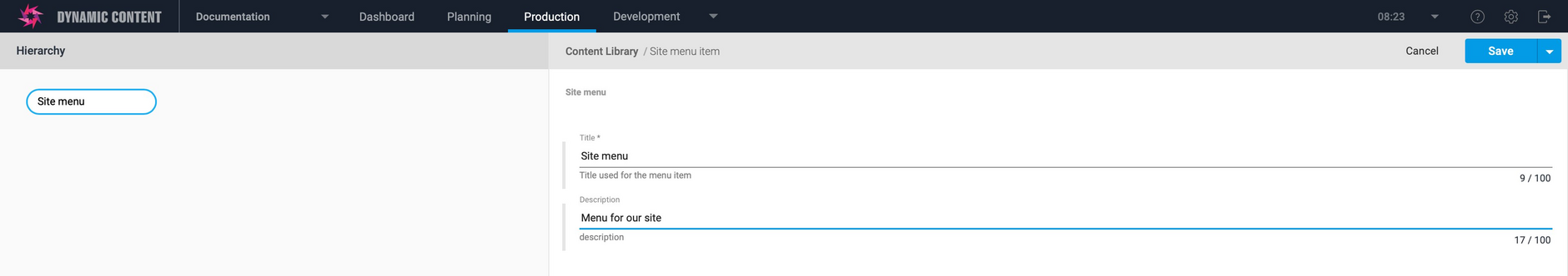 Adding the rest of the content item properties