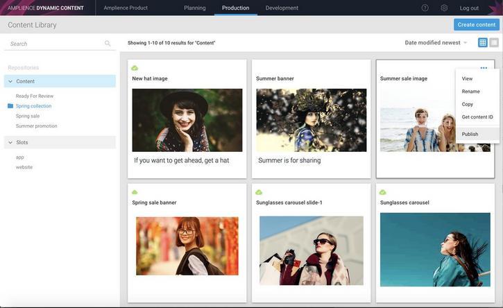 Choosing an item to publish
