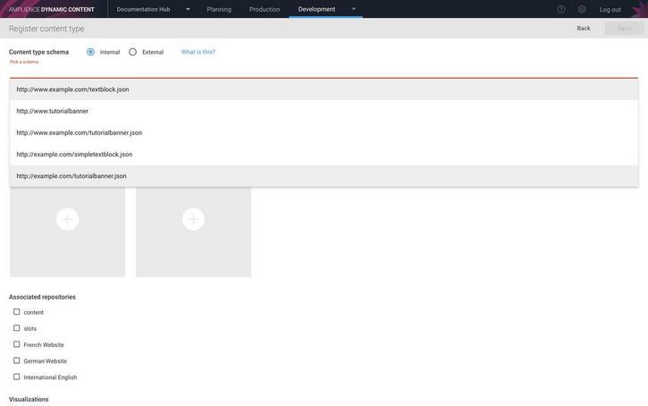 Choosing the banner schema URL