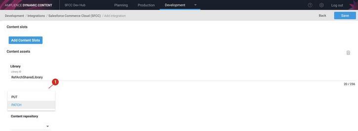 Choosing the update method