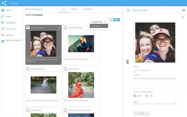 You can choose to view images that have already been enriched