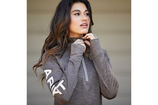 Woman in Ariat Jacket