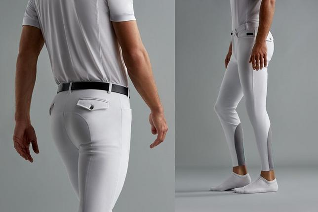 men's white Speranza breeches