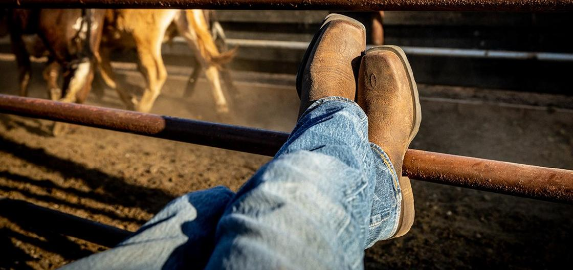 Man in Ariat Boots