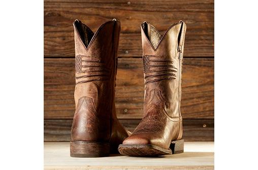 Men's Ariat Boots with Flag