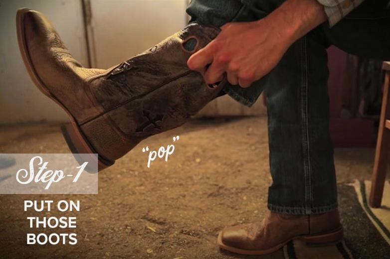 Ariat How to Fit Cowboy Boots Step 1