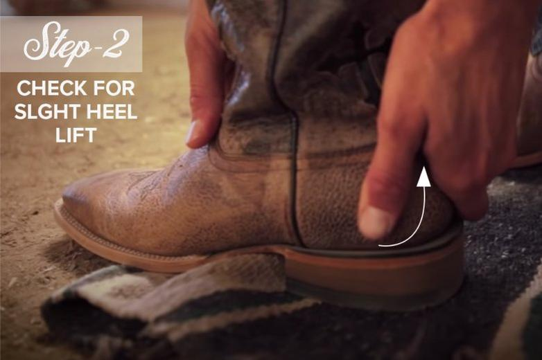 Ariat How to Fit Cowboy Boots Step 2