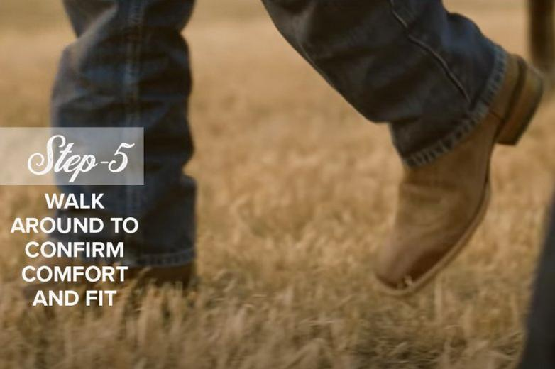 How to Fit Cowboy Boots Ariat Step 5