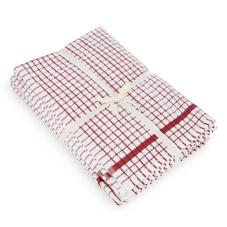 5 Pack Tea Towel Bale Red