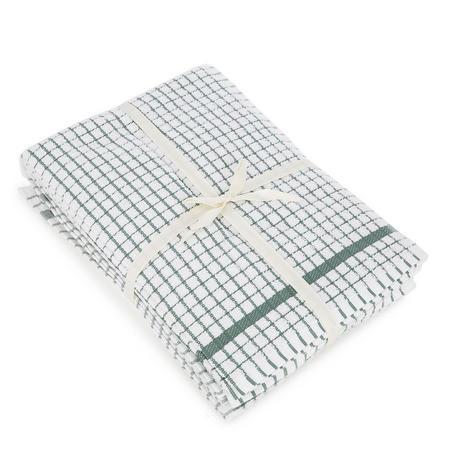 5 Pack Tea Towel Bale Green