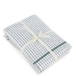 5 Pack Tea Towel Bale Green