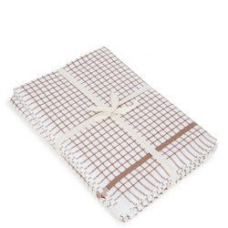 5 Pack Tea Towel Bale Brown