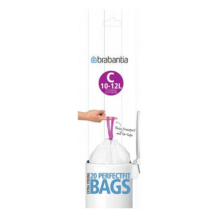 Waste Bags 245343 White 12 Litre