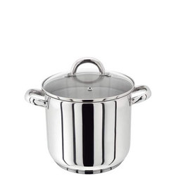 18/10 S/S Stockpot With Glass Lid 26Cm