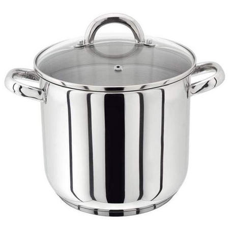 18/10 S/S Stockpot With Glass Lid 28Cm