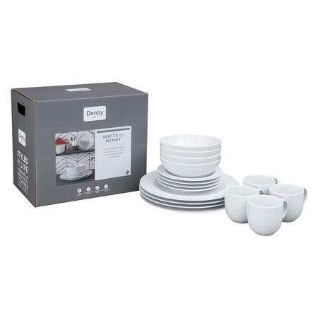 White 16-Piece Dinner Set