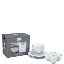 White 16-Piece Dinner Set