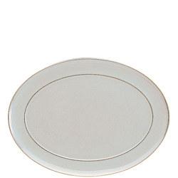 Linen Oval Platter 37cm Cream