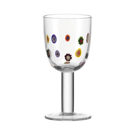 Millefiori Wine Glass Multi Colour