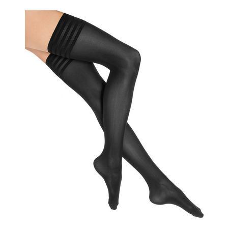Velvet De Luxe 50 Stay Ups Black