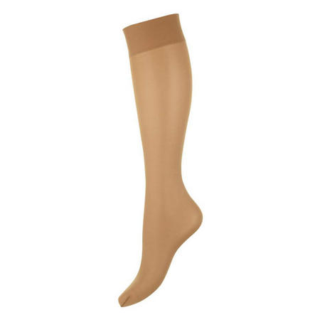 Satin Touch 20 Knee Highs Tan