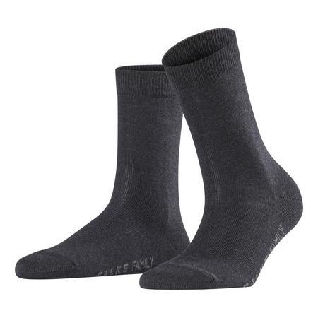 Family Ankle Socks Dark Grey