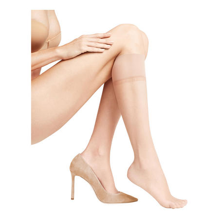 Shelina 12 Denier Knee Highs Natural