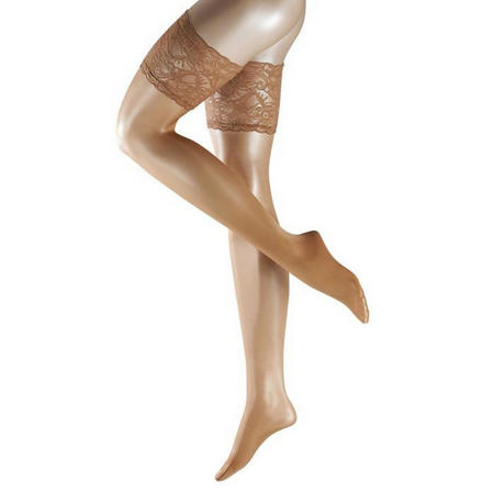 Seidenglatt 15 Denier Stay Up Tights Beige