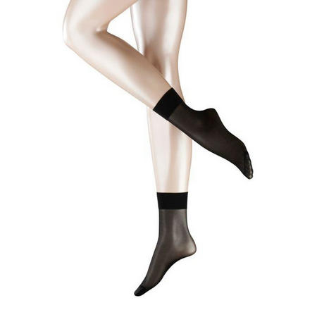 15 Denier Ankle Socks Black