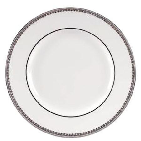 Vera Wang Lace Platinum Plate 27 cm White