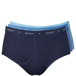 Three-Pack Y-Front Briefs Blue