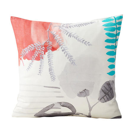 Abstract Garden 50x50 Cushion Cover, White