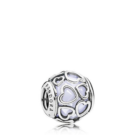 Opalescent Encased in Love Charm Silver