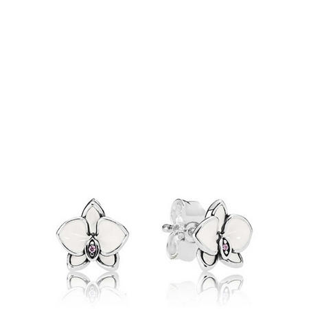 White Orchid Earrings Multicolour