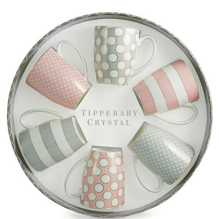 Spots & Stripes Mugs Party Pack Set of 6 Multicolour