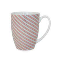 Stripe Mugs Set of 6 Multicolour