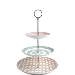 Spots & Stripes 3-Tier Afternoon Tea Cake Stand Multicolour