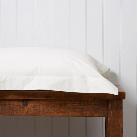 200 Plain Dye Oxford Pillowcase Cream