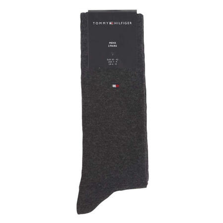 2 Pack Plain Socks Grey