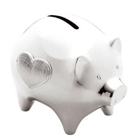 Vera Wang Giftware Baby Collection Silverware Piggy Bank