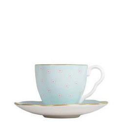Polka Dot Tea Story Coffee Cup & Saucer