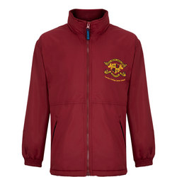 Junior Wine Fleece Lined Jacket W Hood
