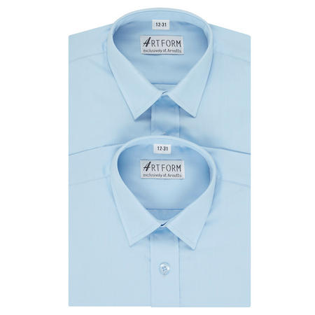 Artform Twin Pack Boys Shirt Blue