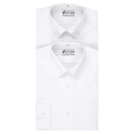 Boys Twin Pack School Shirts White