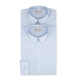 Artform Twin Pack Boys Shirt Blue