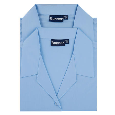 Two-Pack Revere Collar Long Sleeve Shirts Blue