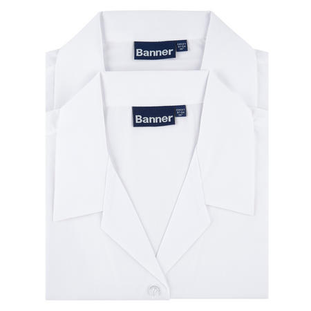 Two-Pack Revere Collar Long Sleeve Shirts White