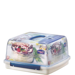 Lock & Lock Cake Storage Box 12.6 Litre With Freshness Tray And Carry Handle