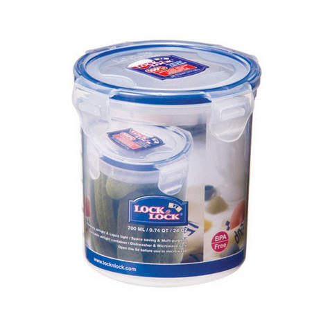 Lock & Lock Storage Container Round 700 Ml