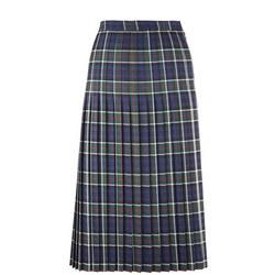 Girls Green Tartan Skirt